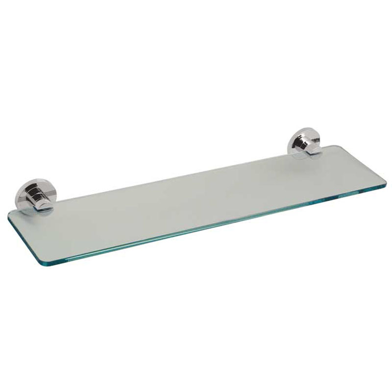 frosted glass shelf 558mm (22) wall mounted