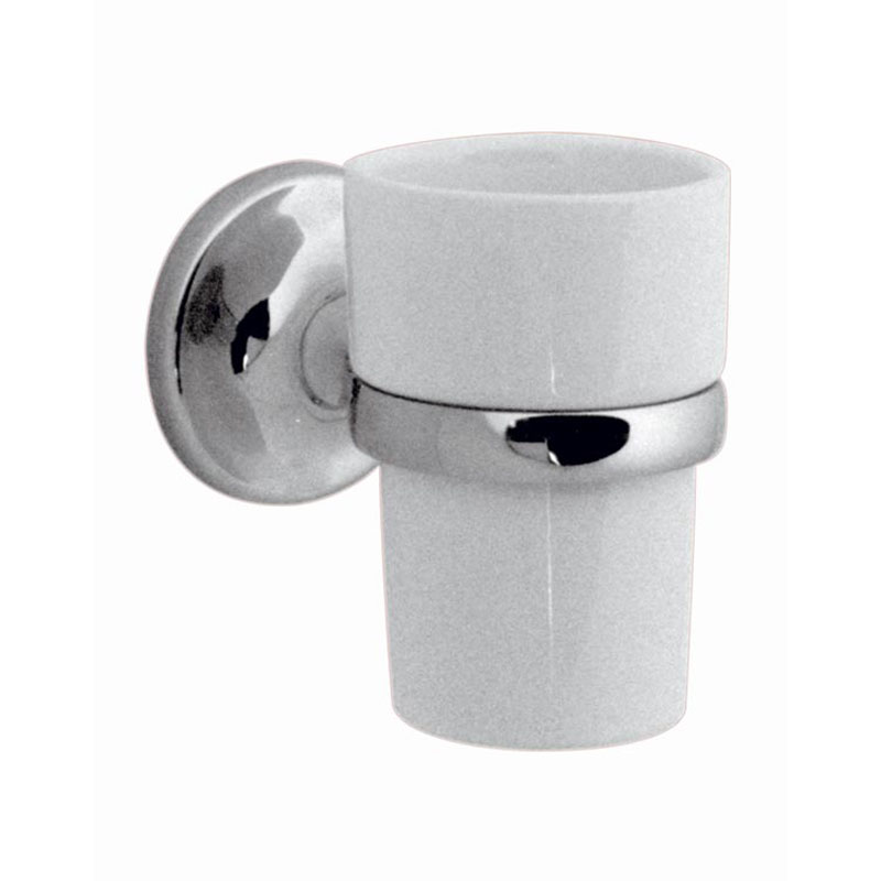 ceramic tumbler and holder wall mounted