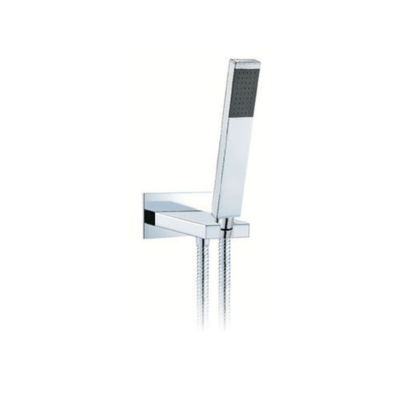 instinct single function mini shower kit with integrated outlet and bracket wall mounted