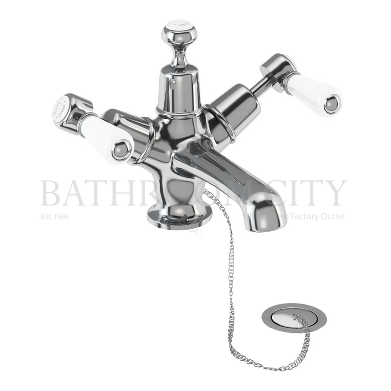 Kensington Basin Mixer with high central indice with plug and chain waste