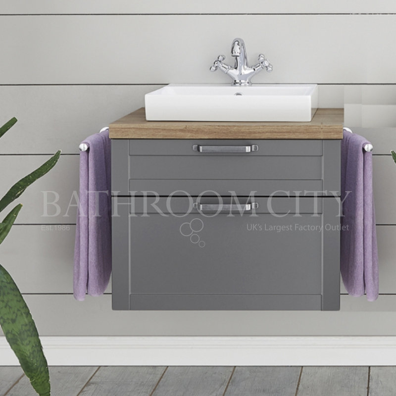 Solitaire 9030 vanity base cabinet 480x580x450 2 drawers with counter top and sit on basin