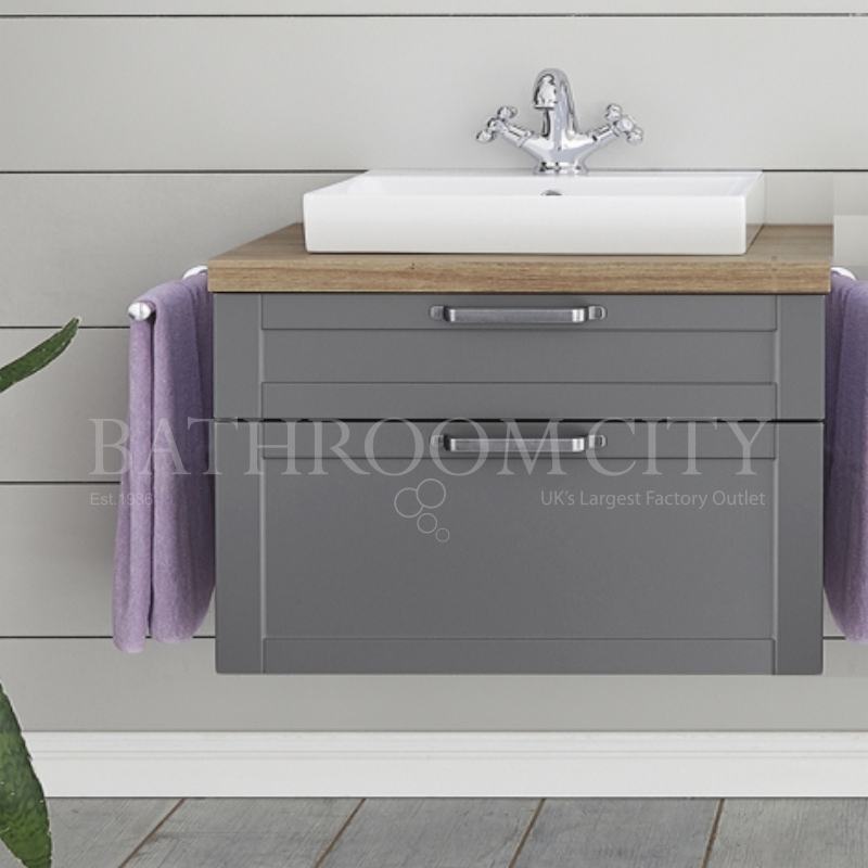 Solitaire 9030 vanity base cabinet 2 drawers 480x840x450 with countertop and sit on basin