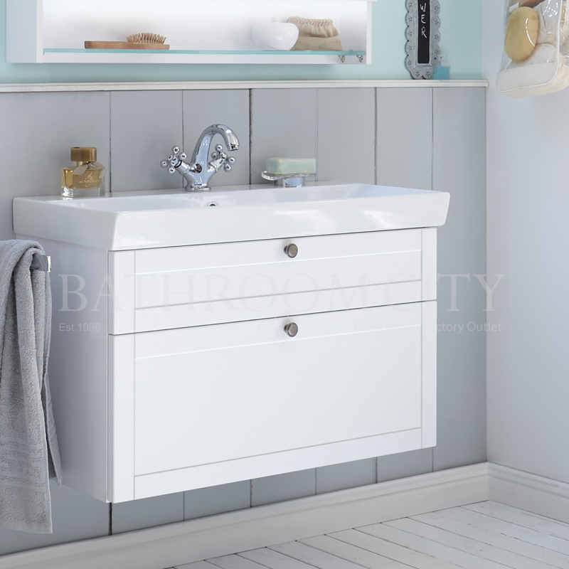 Solitaire 9030 vanity base cabinet 2 drawers 480x840x450 and basin
