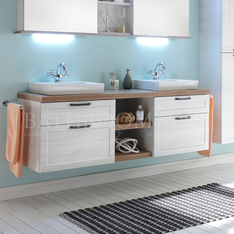 Solitaire 9030 vanity base cabinet 4 drawers 1510 and counter top with sit on bsains