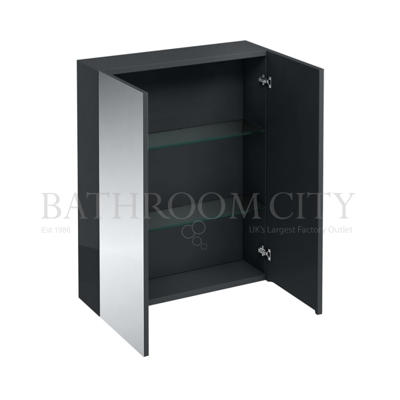 600mm wall cabinet with mirrors,Anthracite grey