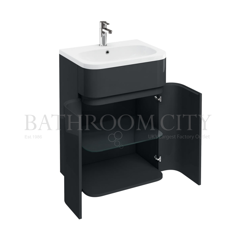 D45 Gullwing cabinet Anthracite with 600 Quattrocast basin
