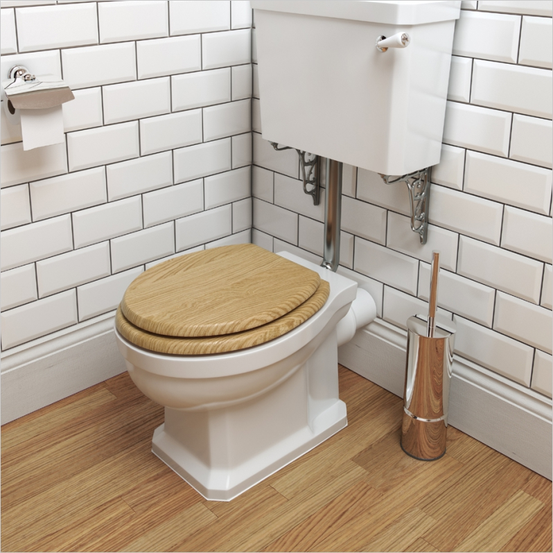 Wyndham Low Level WC Pan, Cistern, Brackets and Soft Close Seat