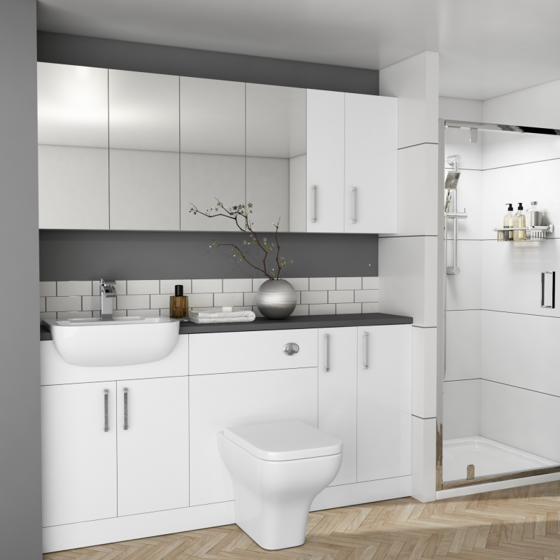 Oliver 1700 Fitted Bathroom Suite Buy Online At Bathroom City