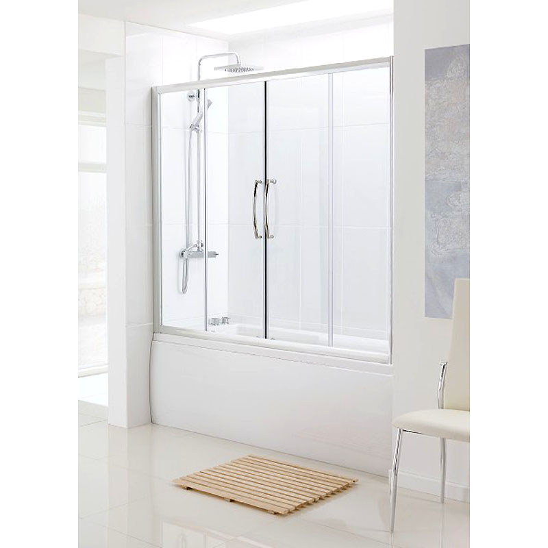 Bathscreen Silver Over Bath Sliding Door Buy Online At