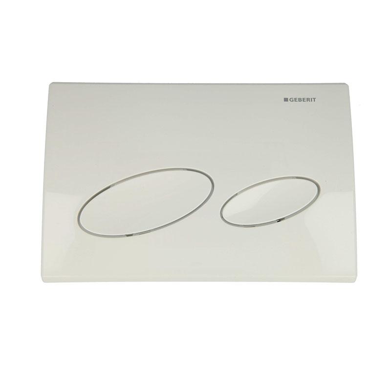 Kappa20 dual flush plate,white