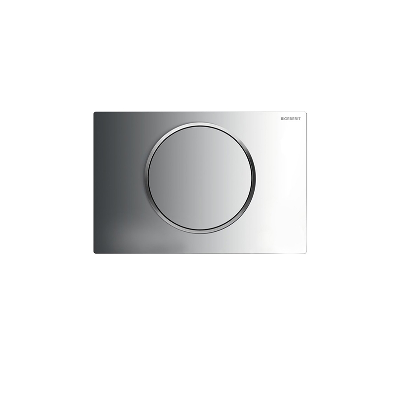 Sigma10 single flush plate,chrome gloss