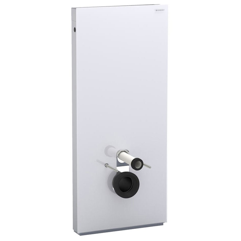 Monolith wall-hung WC, H114, outlet pipe connection, white glass