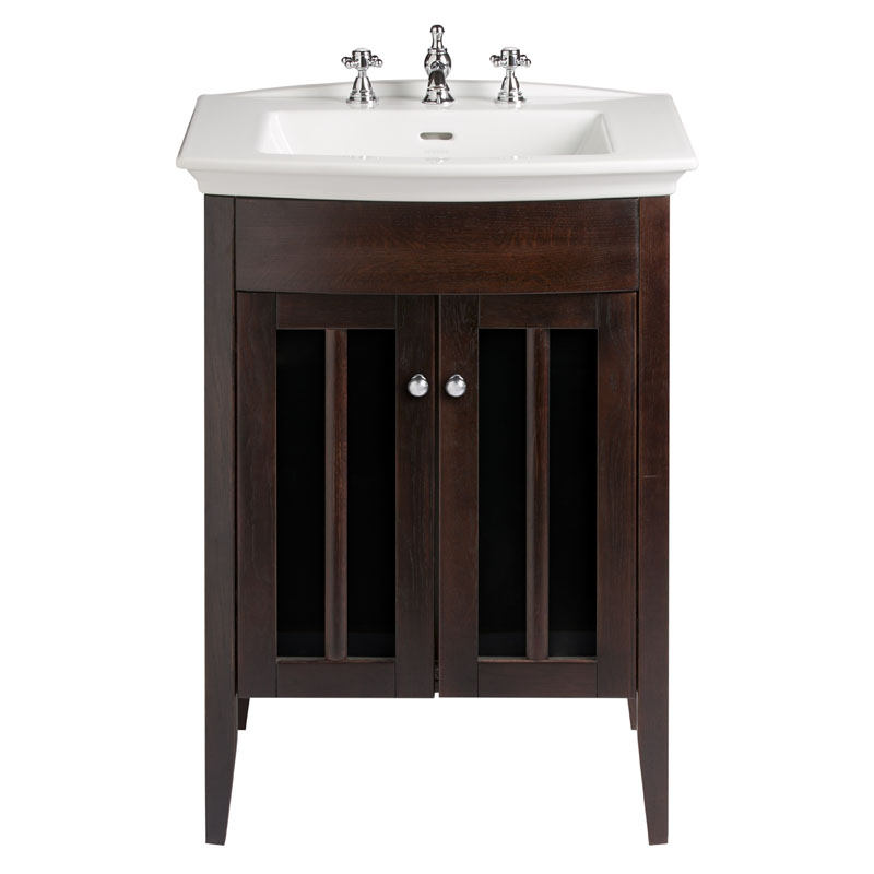 HERITAGE VANITY UNIT WITH BLENHEIM BASIN IN WALNUT FINISH