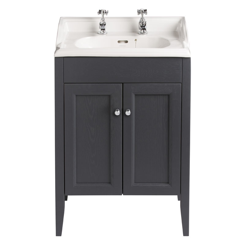CLASSIC VANITY UNIT WITH DORCHESTER SQUARE BASIN IN GRAPHITE FINISH