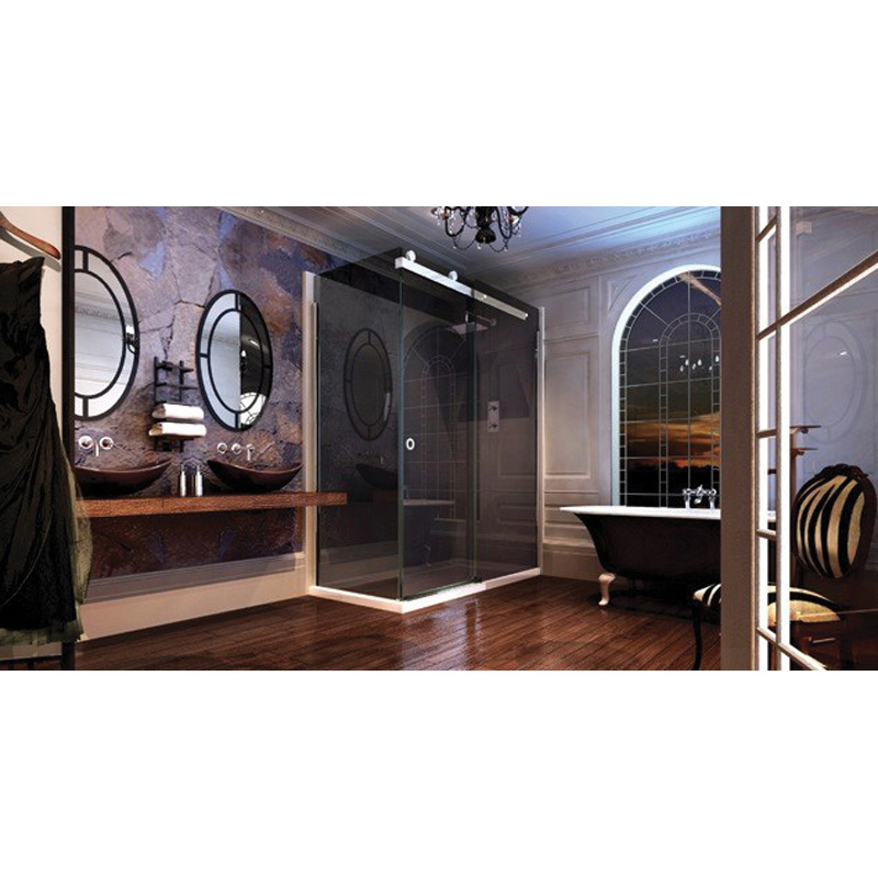 Shower Enclosure 10 Series 1400 Sliding Door Smoked Black