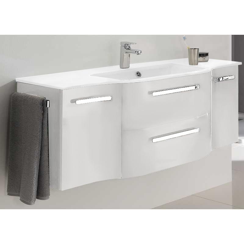 Contea 1260 X 480 Vanity Unit 2 Door 2 Draw Mineral Marble Basin - 9898