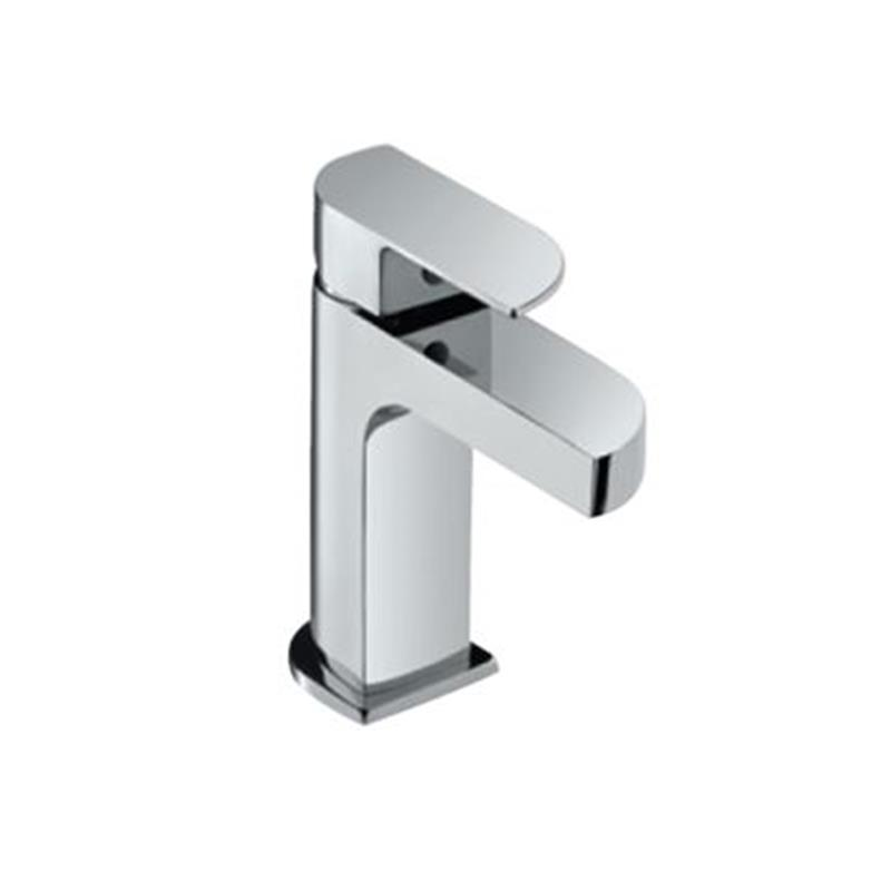 Alive Single Lever Basin Mixer without Popup Waste, with 375mm Long Braided Hoses, HP 1.0