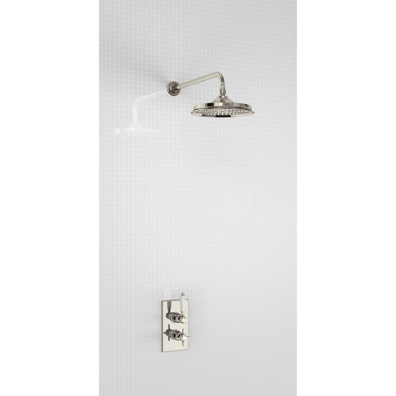 """Arcade NKL 9"""" air-boosted rain shower rose without arm"""