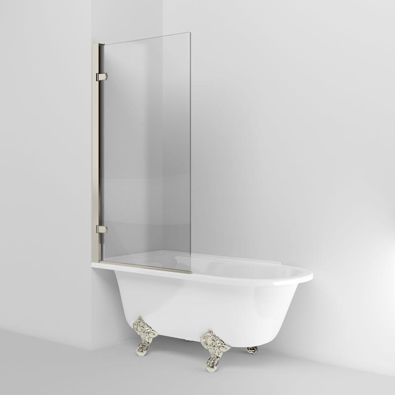 Arcade Hinged bath screen