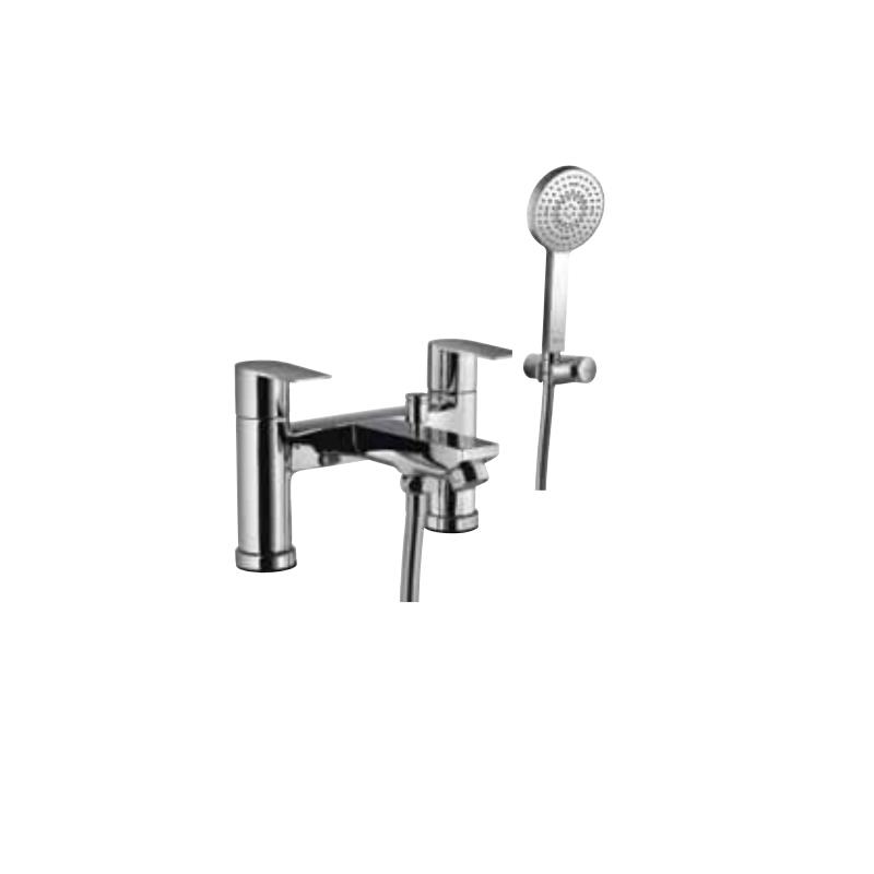Aria 2 Hole H Type Bath and Shower Mixer with Shower Kit
