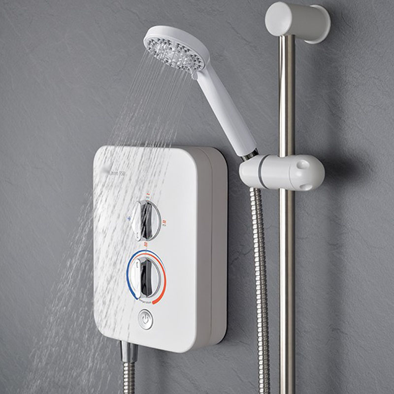 BC Electric Shower 950 (9.5kW) White & Chrome