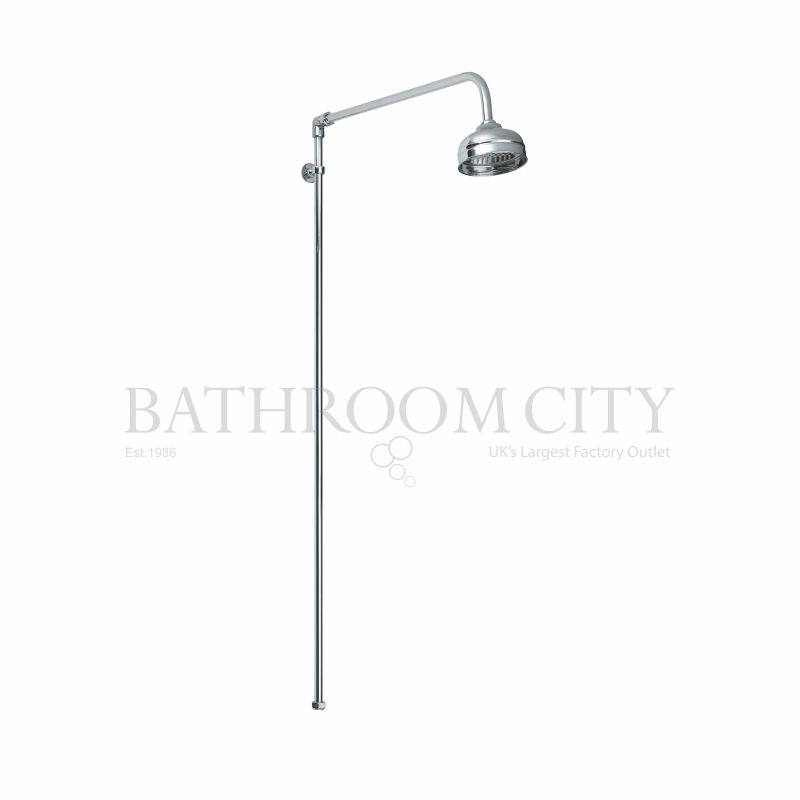 BAYSWATER RIGID RISER SHOWER SET WITH SWIVEL SPOUT