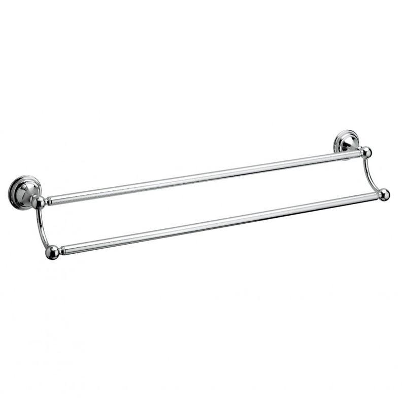 Belgravia Double Towel Rail 60cm Chrome