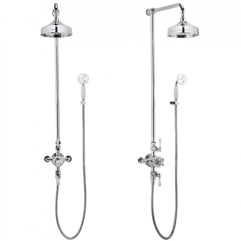 Belgravia Multifunction Shower Valve with handset and bracket and 8