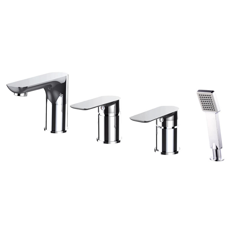 BELLA 4 Hole Deck Mounted Bath Shower Mixer and Hand Shower