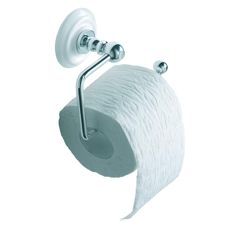 Cambridge Toilet Roll Holder White/Chrome