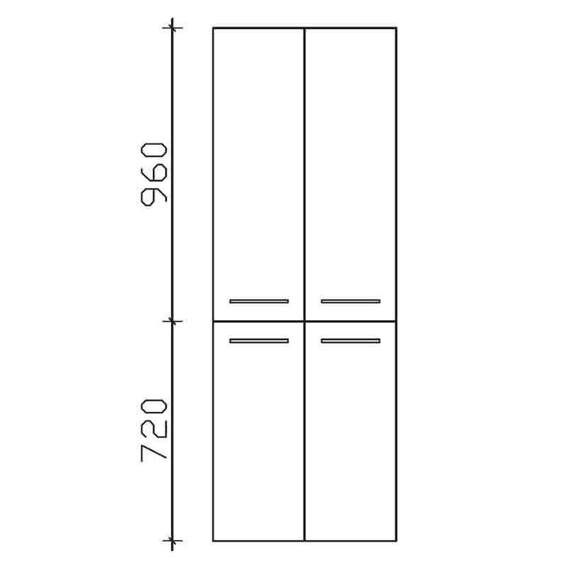 Cassca Bathroom Tall Boy 1680x600x330  4 door