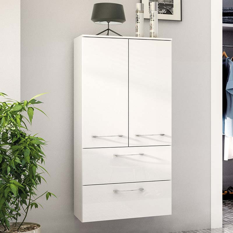 Cassca Wall Hung double Side unit 2 draw 2 door