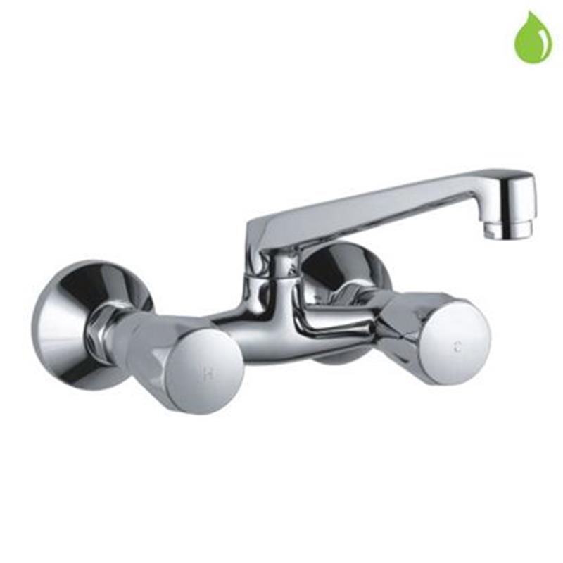 continental Monoblock Bidet Mixer with Popup Waste & 375mm Long Braided Hoses, LP 0.3