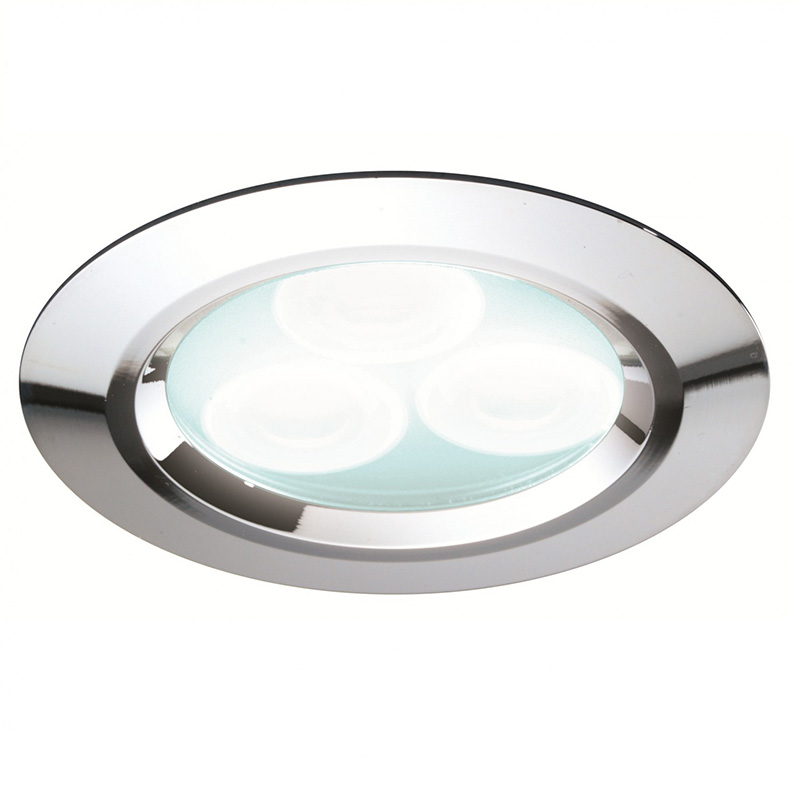 Cool White LED Showerlight, Chrome