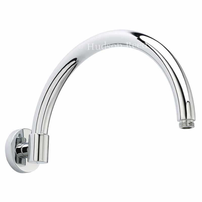 C/P CURVED WALL MOUNTED SHOWER ARM