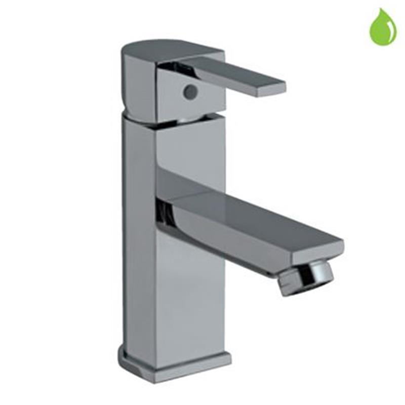 Darc Single Lever Basin Mixer without Popup Waste, with 375mm Long Braided Hoses, HP 1.0