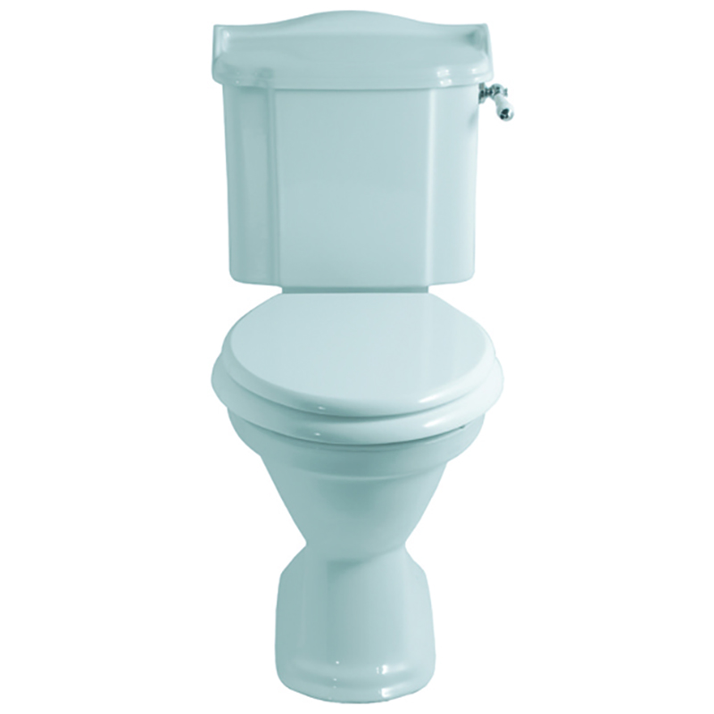Drift Close Coupled Cistern Lever White/Chrome with Pan including Seat