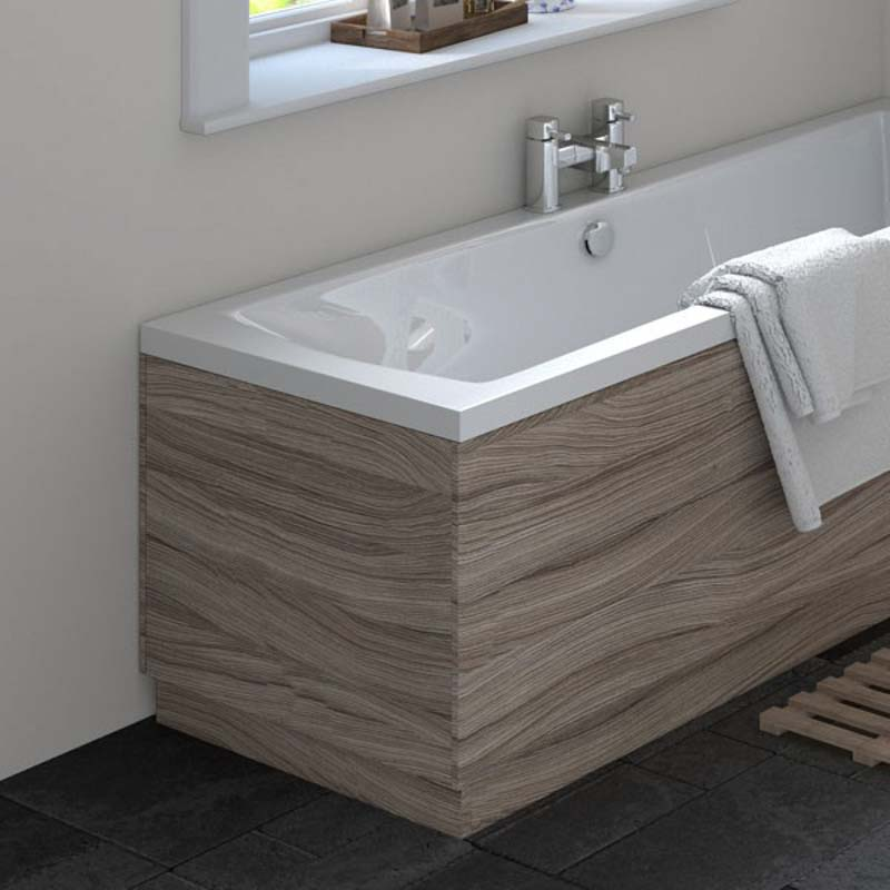 Driftwood Straight Bath End Panel & Plinth 700