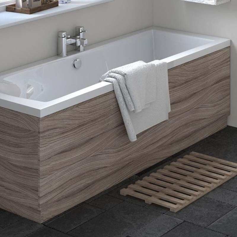 Driftwood Straight Bath Side Panel & Plinth 1700
