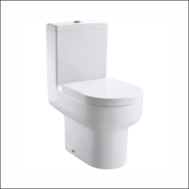 Duro Open back close coupled WC bowl with Cistern and Slow Close Seat