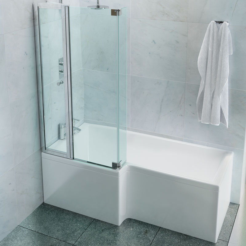 EcoSquare bath RH inc screen and front and end panel