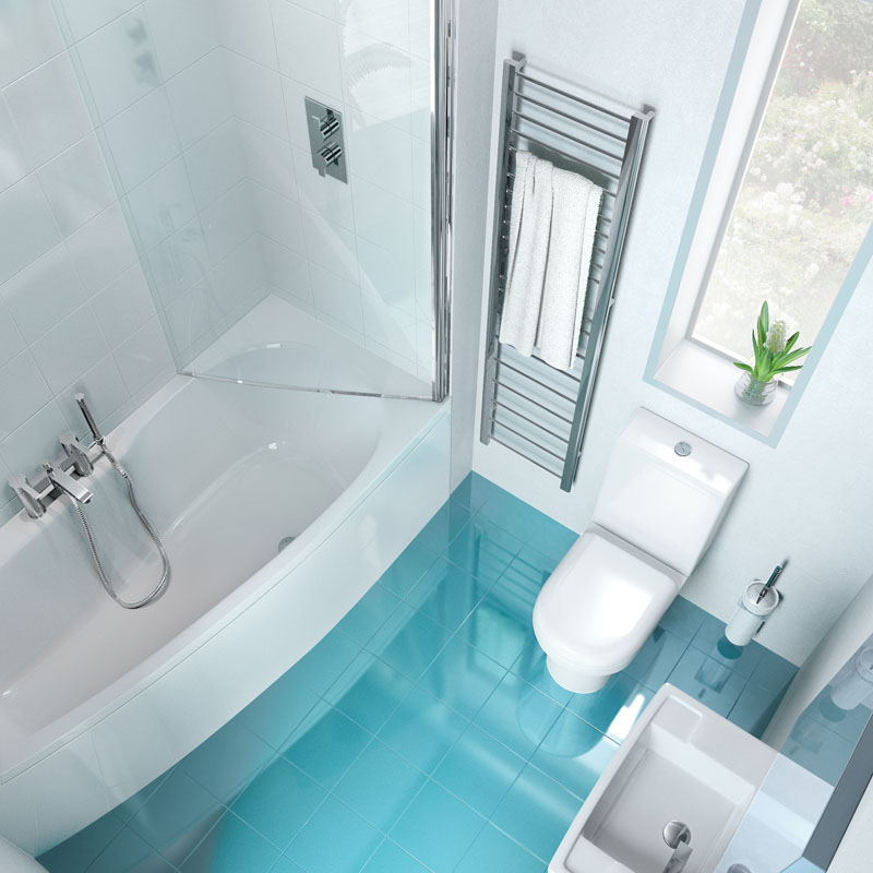 EcoCurve LH Bath with screen, Front and End Panels