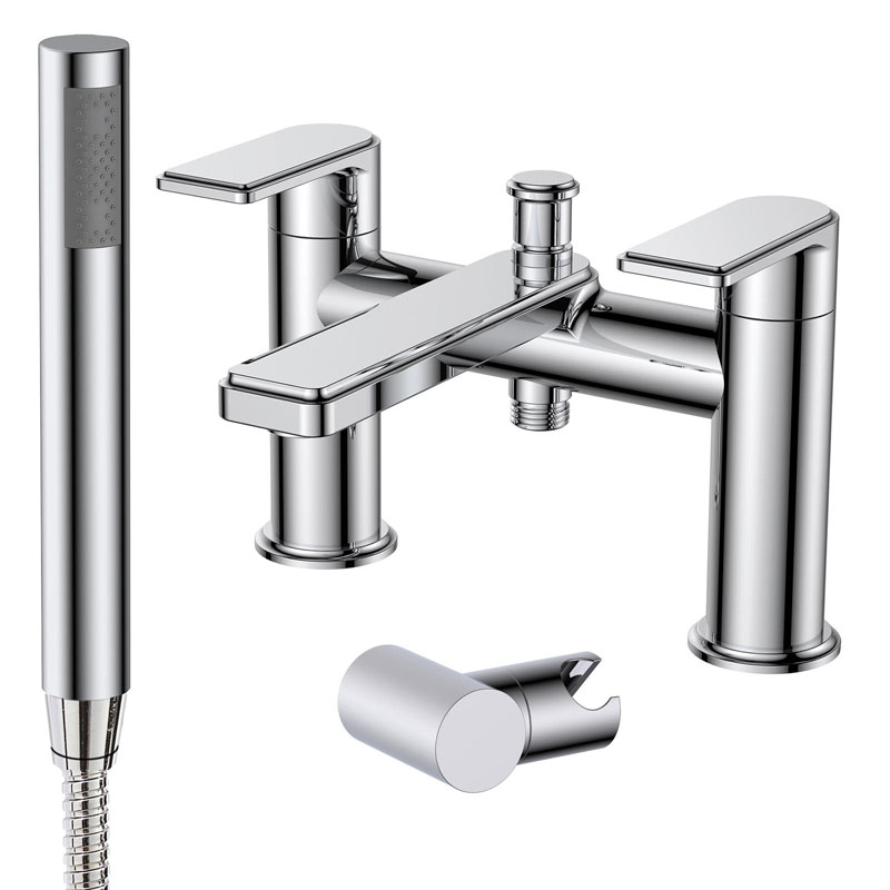 FABIA Deck Mounted Bath Shower Mixer With Shower Kit