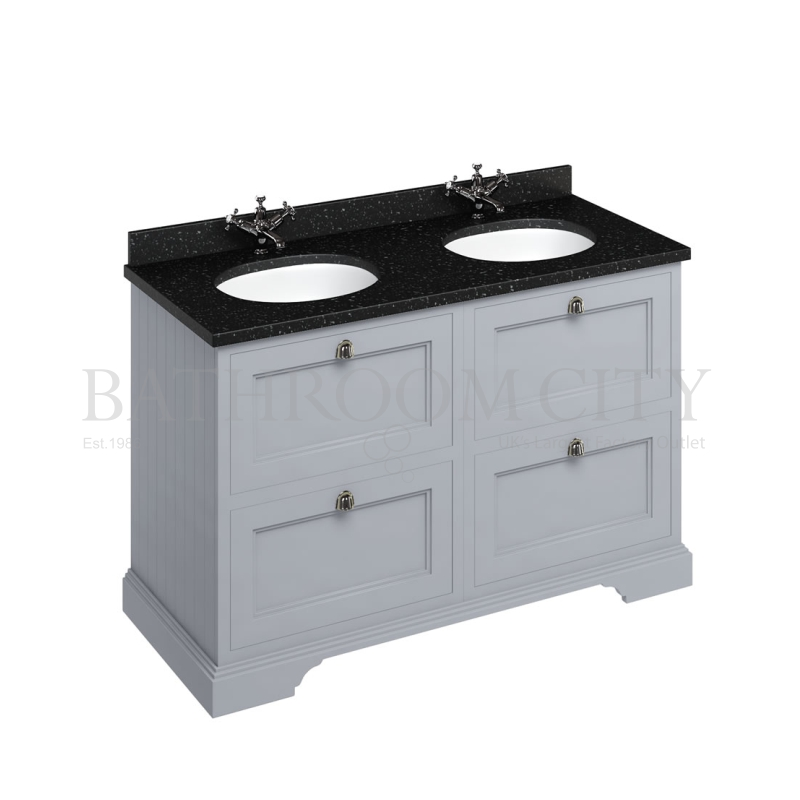 Freestanding 130 Vanity Unit with drawers - Grey