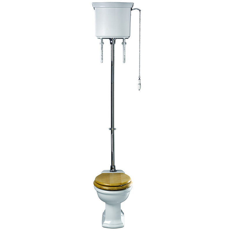 Firenze High Level Cistern Lever Chrome with Pan and Seat