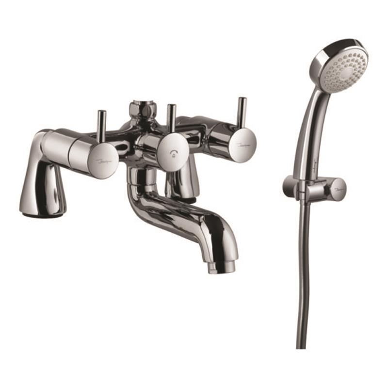 Florentine 2 Hole Bath and Shower Mixer with Shower Kit (1929 & 571)