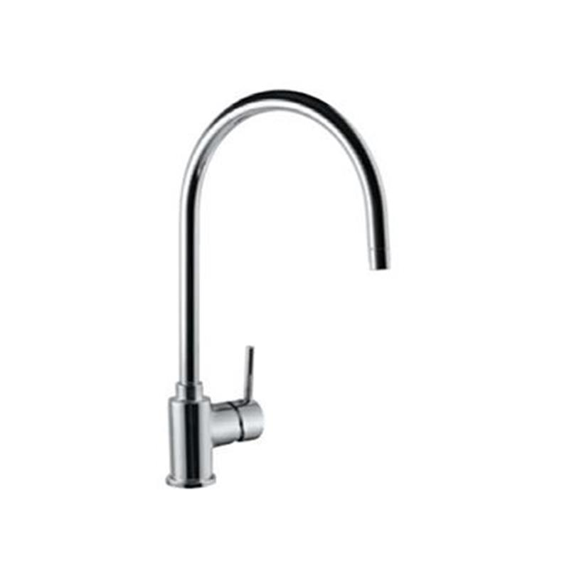 Florentine Side Single Lever Mono Sink Mixer with Swivel Spout & 375mm Long Braided Hoses, HP 1.0