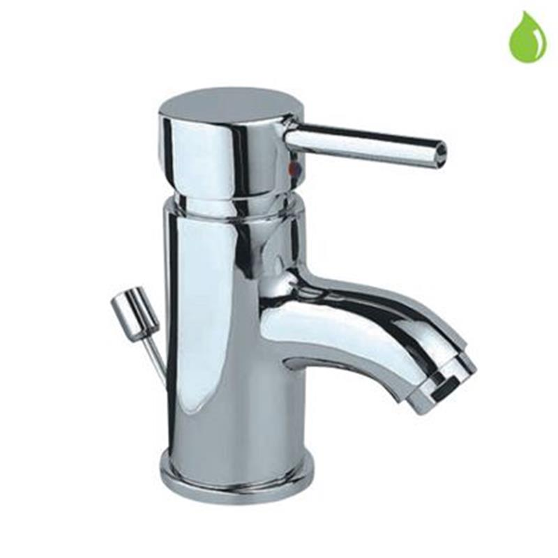 Florentine Single Lever Basin Mixer (Small Spout) with Popup Waste & 375mm Long Braided Hoses, HP 1.0