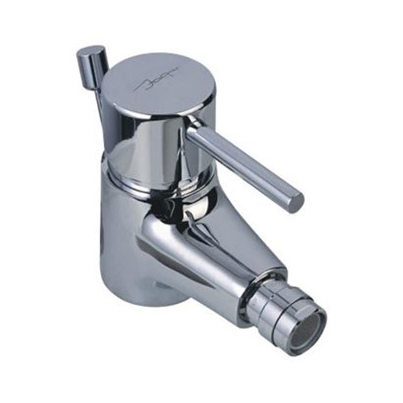 Florentine Single Lever Bidet Mixer with Popup Waste & 375mm Long Braided Hoses, HP 1.0
