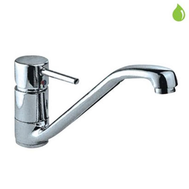 Florentine Single Lever Mono Sink Mixer with Swivel Spout & 375mm Long Braided Hoses, HP 1.0
